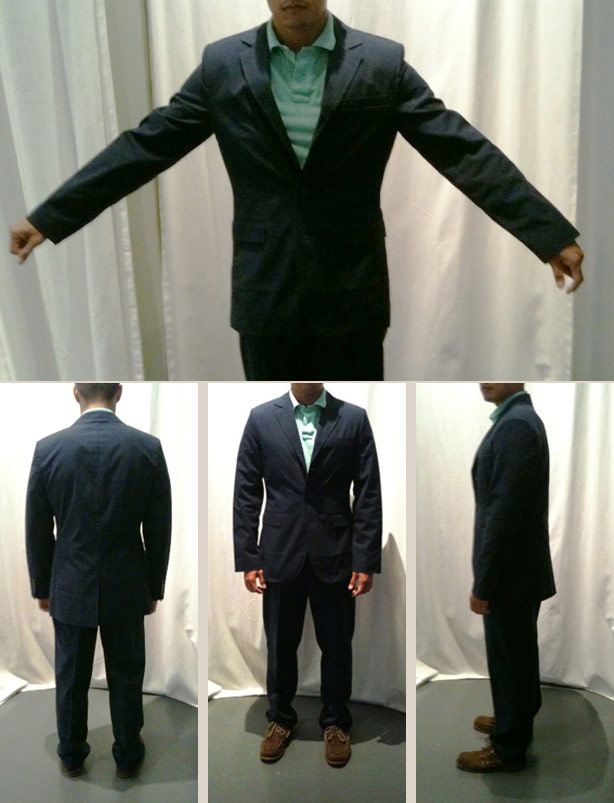 ll bean plain weave signature suiting - before alteration